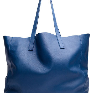 CLOVER LEATHER TOTE-ocean-leather-one