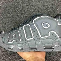 DCCKL8A Jacklish Nike Air More Uptempo Grey White Cheap For Sale