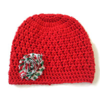 6-9 Month Baby Christmas Holiday Hat Beanie Red