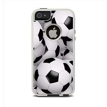 The Soccer Ball Overlay Apple iPhone 5-5s Otterbox Commuter Case Skin Set