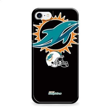 Miami Dolphins logos on blk iPhone 6 | iPhone 6S case