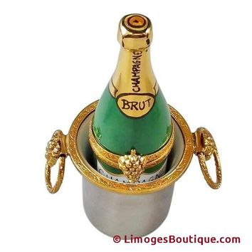 CHAMPAGNE IN BUCKET LIMOGES BOXES