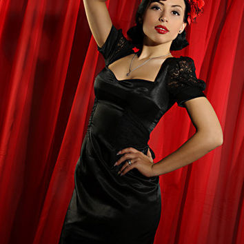 Lacy Lady Pinup dress by TicciRockabilly on Etsy