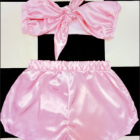 SWEET LORD O'MIGHTY! BABYGIRL SILK SET IN PINK