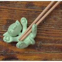 Flat Cat, Chopstick Holder (ceramic)