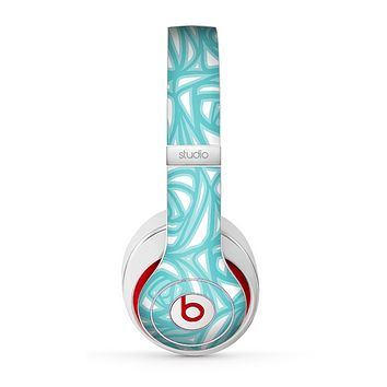The Vector Subtle Blues Pattern Skin for the Beats by Dre Studio (2013+ Version) Headphones