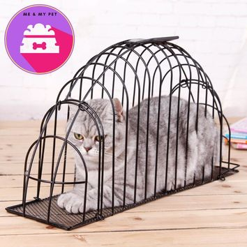 Top Qulity Metal Portable Carry Cat bath pet cage cats fur dryer wash machine needle scratch proof bite Pet Supplies Accessories