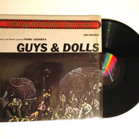 LP Album Guys and Dolls A Musical Fable of Broadway Frank Loesser Vinyl Record Soundtrack Stage and Screen
