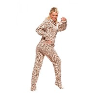 Buy Cheetah Footie Pajamas Onesuit for Adults | World's Best PJ's