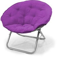 Mainstays Large Microsuede Saucer Chair, Multiple Colors - Walmart.com