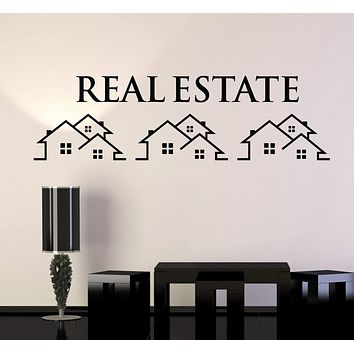Vinyl Wall Decal Real Estate Agency Rent Home Stickers Mural Unique Gift (ig4924)