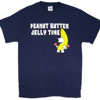 Peanut Butter Jelly Time - Brian - Family Guy T-shirt: Adult Medium - Navy Blue