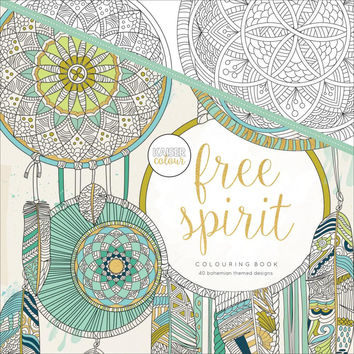 Kaiser Colour Perfect Bound Bohemiam Adult Coloring Book Free Spirit