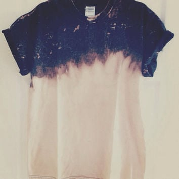 Dip-Dyed Bleached Tee (Made to Order)