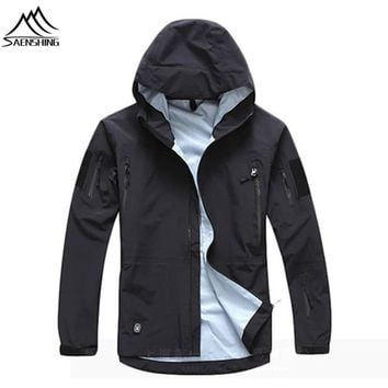 SAENSHING outdoor waterproof jacket Camo Tad military Tactical jacket hunting clothes camping TAD softshell jacket windbreaker