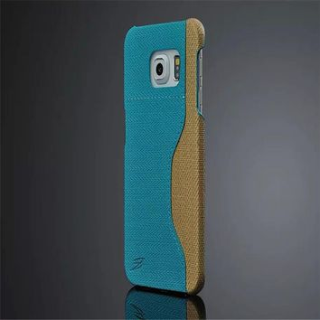 Fashions Luxury Coque card back Cover For Samsung Galaxy S6 edge G9250 Case embossed quality goods PU Leather Mobile phone Shell