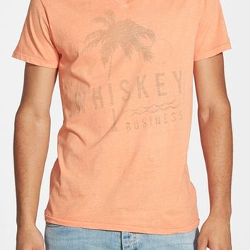 Men's Sol Angeles 'Whiskey Business' V-Neck Graphic T-Shirt,