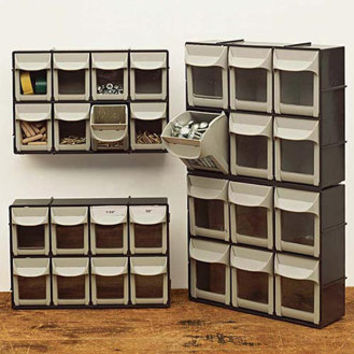 Flip Out Stackable Bins: Organizer Bins, Storage Bins