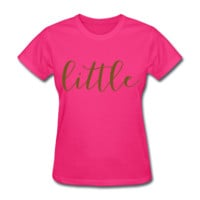 GOLD GLITZ PRINT! Little, Sorority Shirt, Women's T-Shirt