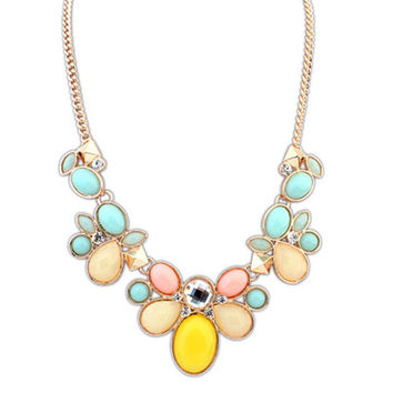 New Arrival Jewelry Gift Shiny Accessory Stylish Gemstone Simple Design Korean Necklace [6586310855]