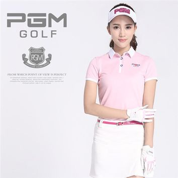 PGM Brand Golf Skirt Women Outdoor Sports Soft Clothing Polo Cotton Breathable Durable Short Lady Golf Skirt for Girls 3 Colors