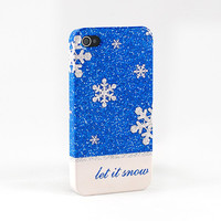 Let it Snow Christmas Phone Case - iPhone 4 4S, iPhone 5 and Samsung Galaxy S III