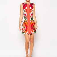 Ted Baker Tunic Dress in Tropical Toucan Print