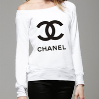 bella long sleeve sweater with  Chanel logo