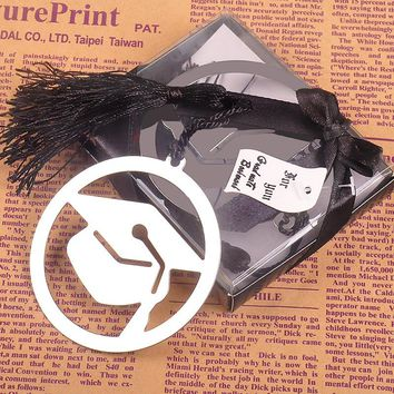 Metal craft creative Doctorial hat bookmark Party supplies romantic Chinese style bookmark wedding Valentine day guests gifts