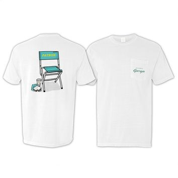 Limited Edition Patron Chair Pocket T-Shirt by Classic Georgia