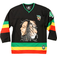 Bob Marley Men's  Hockey Jersey Black