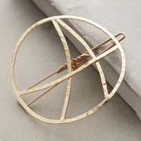 Fibonacci Hair Clip by Anthropologie in Gold Size: One Size Hair