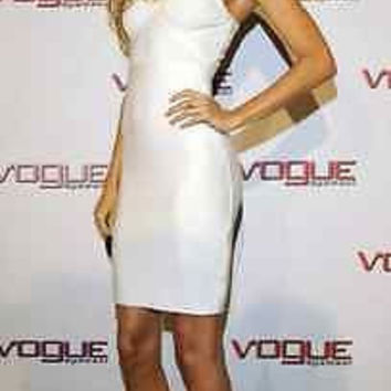New Celebrity Sexy bodycon bandage dress cocktail evening party white