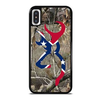 CAMO BROWNING REBEL FLAG iPhone X Case Cover