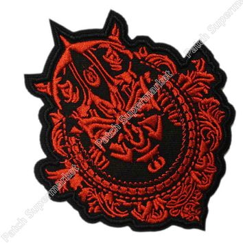 "Lot of Ten 4"" Star Wars Darth Maul Framed TV Movie Film Costume Embroidered Sew On Iron On Patch TRANSFER APPLIQUE Memorabilia"