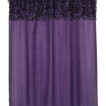 "Latin Fever Dance Party Fabric Shower Curtain  70"" x 72"" (Purple)"