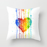 Love Wins Throw Pillow by Olechka