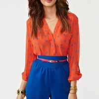 Belted Petal Shorts - Blue in  Clothes at Nasty Gal