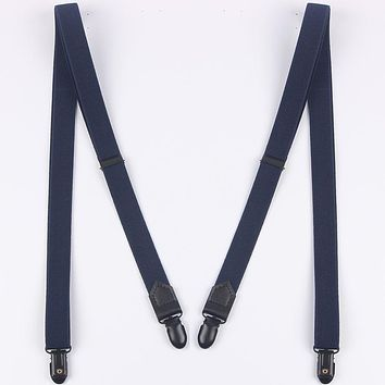Suspenders Men 4 Clips Suspenders Pants Folder Trousers Braces Wedding Luxury Adult Suspenders Belts Straps