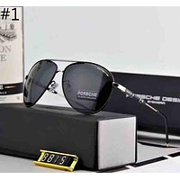 Porsche Men and Women Polarized Metal Large Frame Sunglasses F-A-SDYJ #1