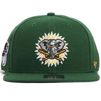 Oakland Athletics Sure Shot Snapback Hat Kelly Green