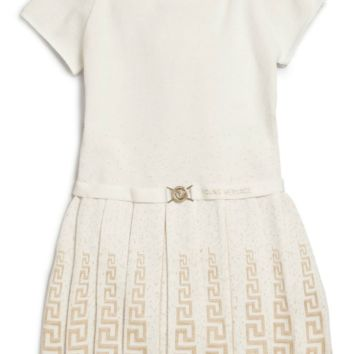 Versace Girls Ivory Knit Dress