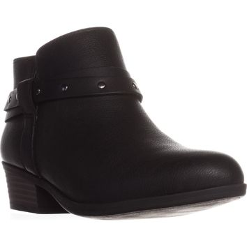 Clarks Addiy Zoie Casual Ankle Boots, Black Leather, 7 US / 37.5 EU