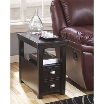 T864-7 Hatsuko Chair Side End Table - Dark Brown - Free Shipping!