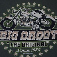 xl Peanuts Snoopy t shirt JOE COOL Big Daddy Motorcycle motorbike s/s biker tee