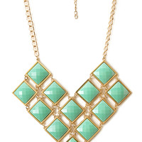 FOREVER 21 Retro Chain Necklace Gold/Mint One