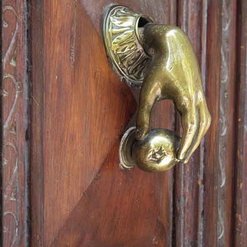 Door Knocker, Barcelona, Rustic Wall Decor, Architecture prints, Art Gallery, Wall Print