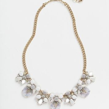 Erin Lavender Crystal Statement Necklace