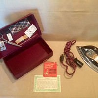 Samson Stitch 'n' Iron Travel Kit/Travel Iron/1950's Travel Iron