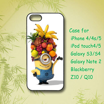 Fruit Minion, Samsung Galaxy S3, Samsung Galaxy S4, Samsung note 2, blackberry z10, Q10,iPhone 4 Case, iPhone 5 Case, ipod case